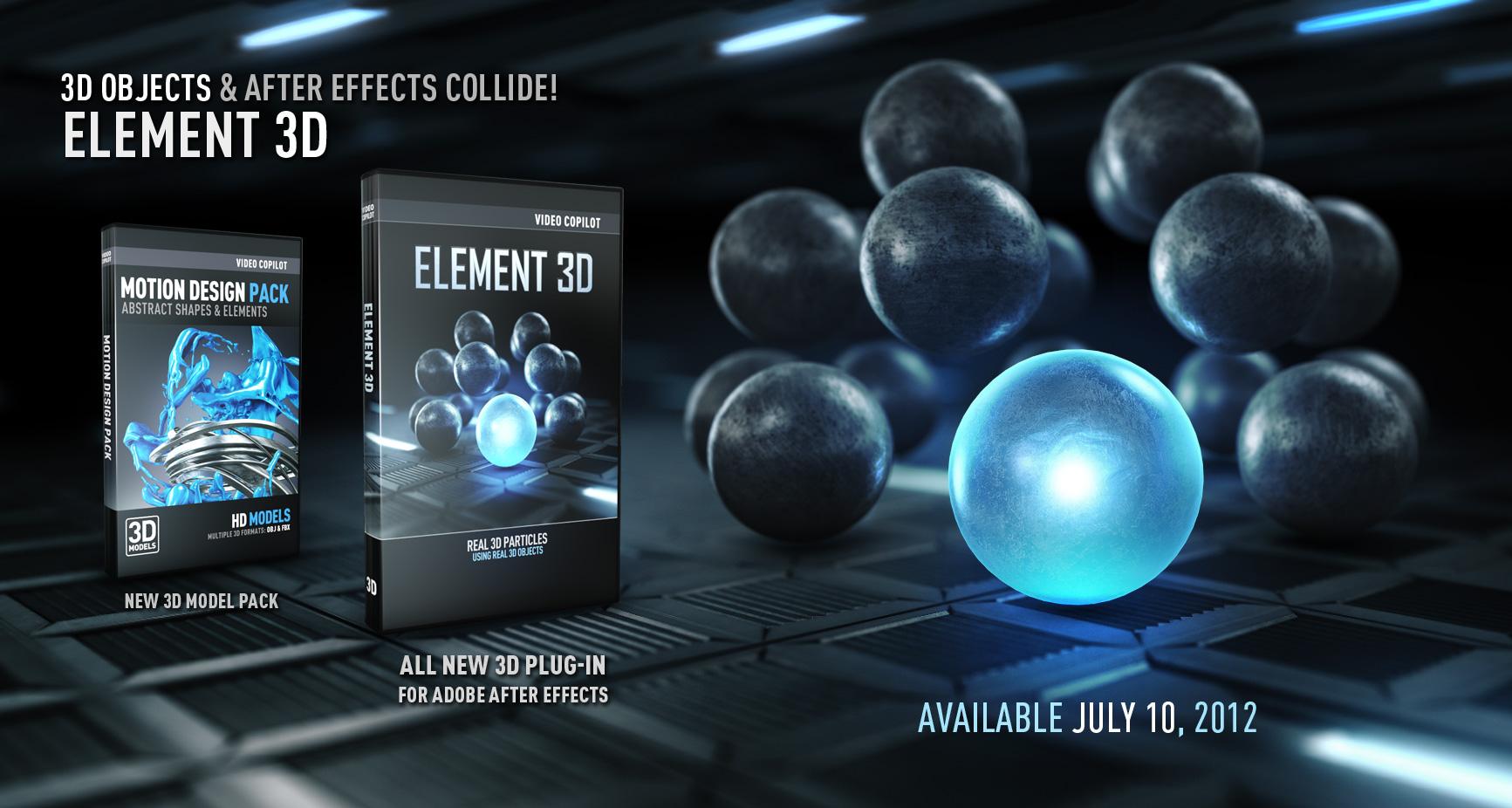 Download Element 3D Full Crack - Plugin 3D tốt nhất cho Adobe After Effect
